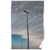 Street Lamps and Mammatus Clouds Poster