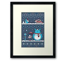 Pokemon Totoro Neighbor Framed Print