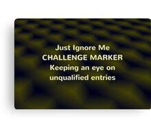 Challenge Marker Canvas Print