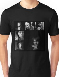 Jared Padalecki in Black and White Unisex T-Shirt