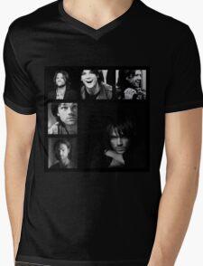 Jared Padalecki in Black and White Mens V-Neck T-Shirt