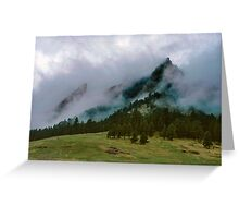 The Flatirons Cloaked In Mystery Greeting Card