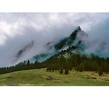 The Flatirons Cloaked In Mystery Photographic Print
