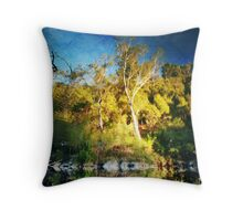 River Painting Throw Pillow