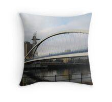 Manchester Millennium Lifting Footbridge Throw Pillow