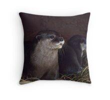 Otter holt Throw Pillow