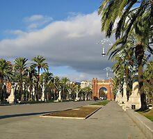 The Arc de Triomf in Barcelona by kirilart