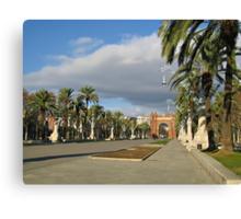 The Arc de Triomf in Barcelona Canvas Print