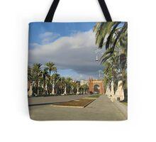 The Arc de Triomf in Barcelona Tote Bag