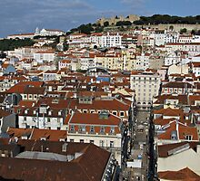 City view of Lisbon by kirilart