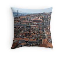 Lisbon Panoramic View Throw Pillow
