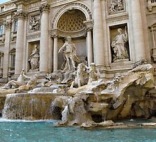 The Trevi Fountain in Rome by kirilart