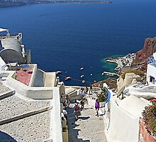 Santorini Caldera from Fira III by Tom Gomez