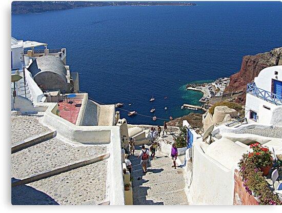 Santorini Caldera from Fira III by Tom Gomez