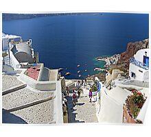 Santorini Caldera from Fira III Poster