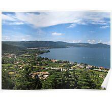 Lake Bracciano panoramic view Poster
