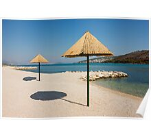 Beautiful Remote Beach near Trogir in Croatia Poster