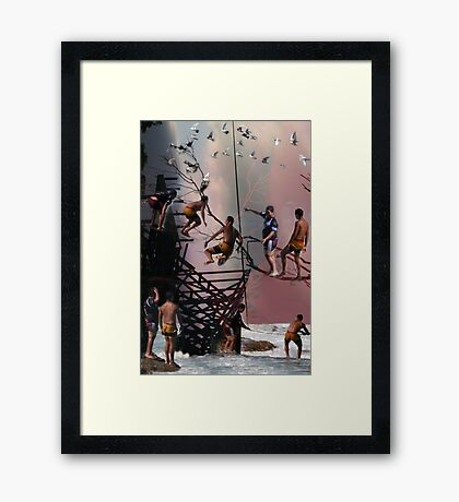 Boys just want to have fun ..... Framed Print
