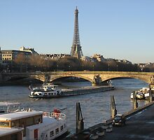 The River Seine in Paris by kirilart