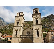 Facade of Cathedral in Kotor Photographic Print