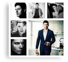 Jensen Ackles in (somewhat) Black and White Canvas Print