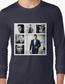 Jensen Ackles in (somewhat) Black and White Long Sleeve T-Shirt