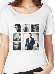 Jensen Ackles in (somewhat) Black and White Women's Relaxed Fit T-Shirt