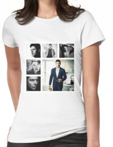 Jensen Ackles in (somewhat) Black and White Womens Fitted T-Shirt