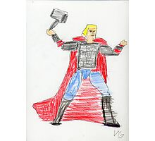 Norse God of Thunder Photographic Print