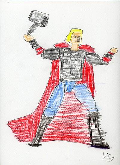 Norse God of Thunder by Vincent Gitto