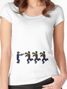 Zombies 16-Bit Women's Fitted Scoop T-Shirt