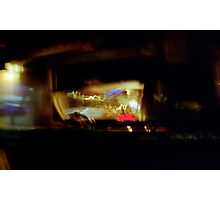 NY - taxi cab 330am Photographic Print