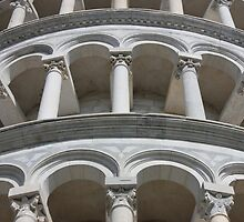 Leaning Tower in Pisa detail by kirilart