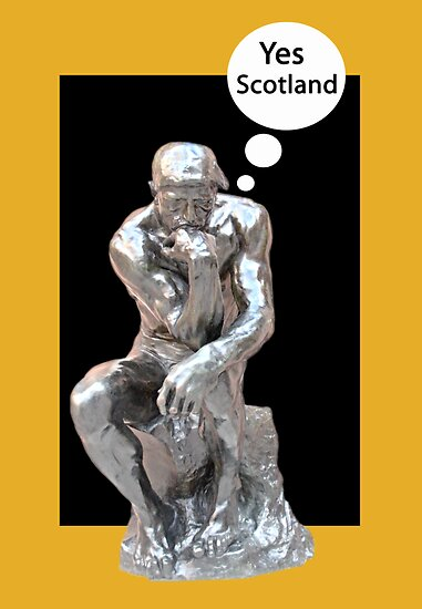 The Thinker Thinks Yes Scotland by simpsonvisuals