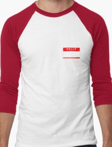 hello my names is tag shirt Men's Baseball ¾ T-Shirt