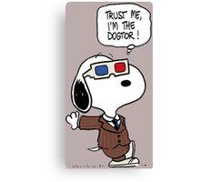 Peanuts Trust Me Im Doctor Canvas Print