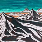 Mountains in the clouds by George Hunter