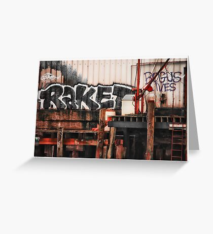 Tagging Waterfront Greeting Card