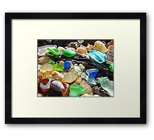 Seaglass Art Prints Coasta Beach Sea Glass Framed Print