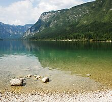 Lake Bohinj Shore in Slovenia by jojobob