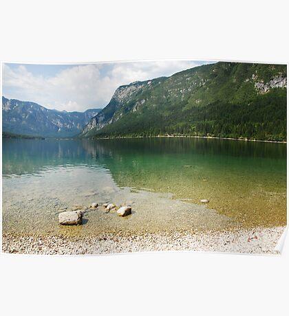 Lake Bohinj Shore in Slovenia Poster