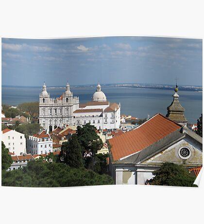 Lisbon Panoramic view toward The Vasco da Gama Bridge Poster
