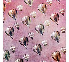 Vintage Hot Air Balloons Retro Floral Damask Photographic Print