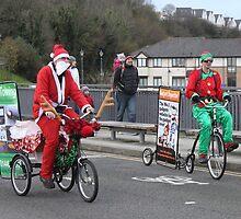 I thought Santa used Reindeers not bikes. Must lay off the whisky as I'm hallucinating. by Poverty