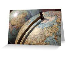 Vintage Globes Greeting Card
