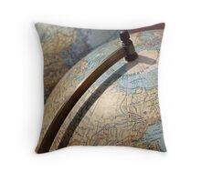 Vintage Globes Throw Pillow