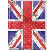 Vintage Red Polka Dots Floral UK Union Jack Flag iPad Case/Skin