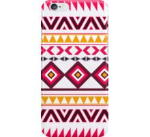 Red teal Aztec Tribal Diamond geometric Pattern iPhone Case/Skin