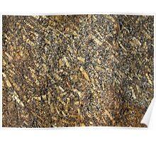Sparkling Quartz Mineral Texture Poster