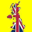 Iphone Case - Cool Britannia - Yellow Background by Mark Podger